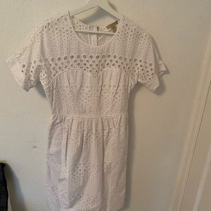 Burberry white eyelet dress